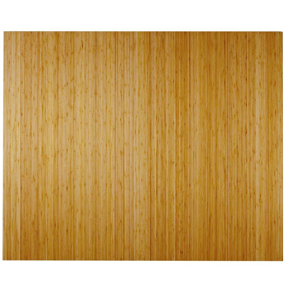 Anji Mountain Deluxe Natural Light Brown 48 In. X 60 In. Bamboo Roll