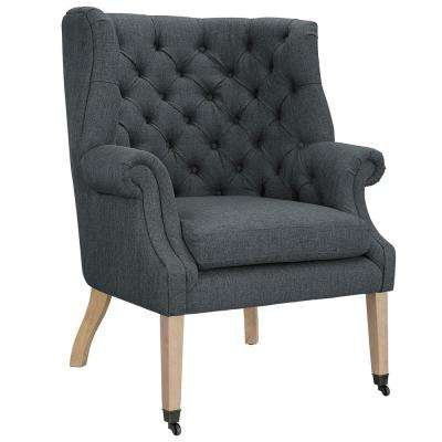 Chart Gray Upholstered Fabric Lounge Chair
