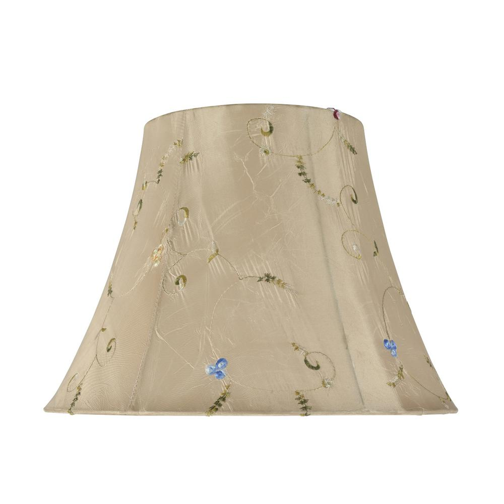 8d57b862fda6 Aspen Creative Corporation 13 in. x 9.5 in. Gold and Floral Embroidered  Design Bell