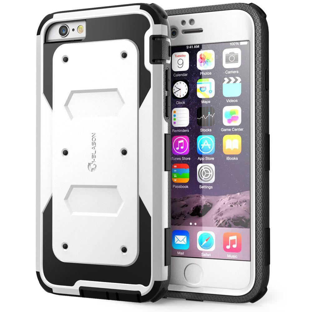 timeless design 2bab9 ec2f3 i-Blason Armorbox Full-Body Protective Case for Apple iPhone 6/6S Plus 5.5  Case, White