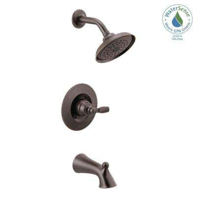 Woodhurst 1-Handle Wall Mount Tub and Shower Trim Kit in Venetian Bronze (Valve Not Included)