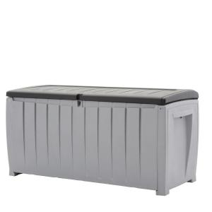 Keter Novel 90 Gal Deck Box In Black And Gray 220414
