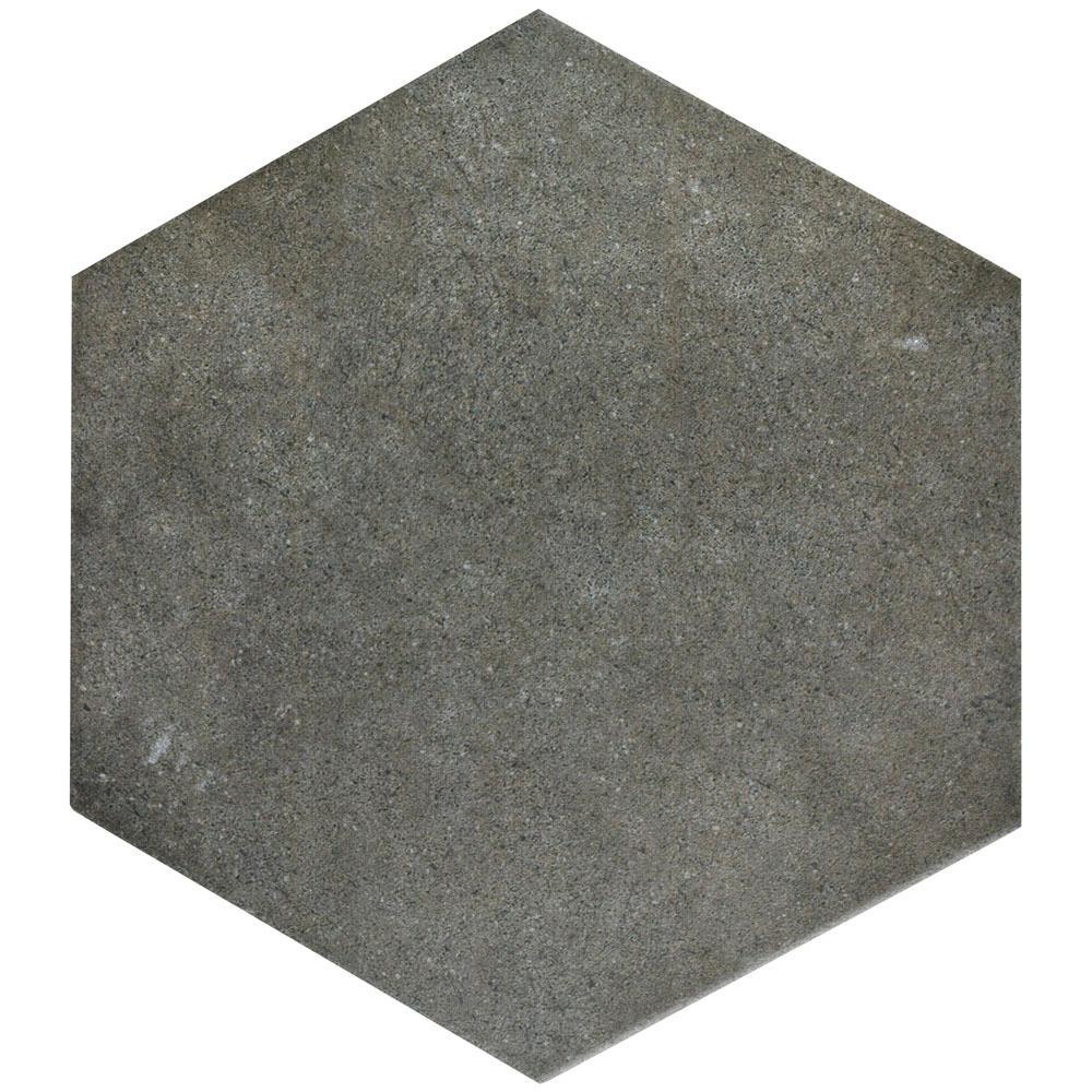 Merola Tile Vintage Hex Marengo 8-5/8 In. X 9-7/8 In