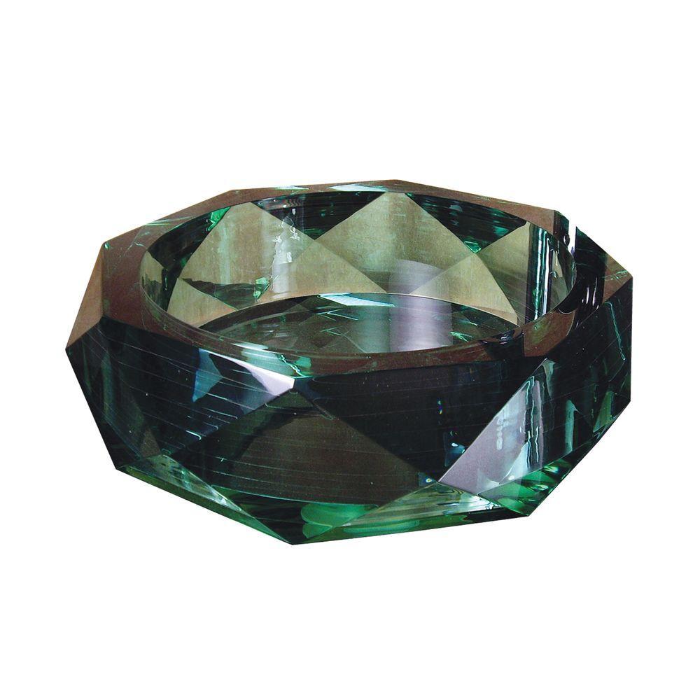 Yosemite Home Decor Fused Warm Glass Vessel Sink in Jade Diamond