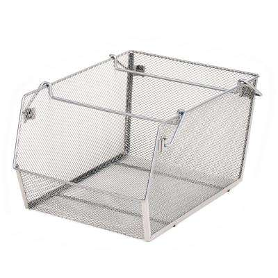 11 in. x 8 in. Large Mesh Stacking Storage Bin (2-Pack)