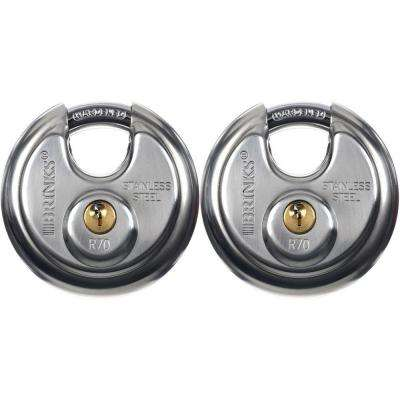 Stainless Steel Shielded Lock (2-Pack)