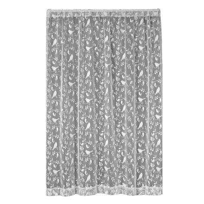 Bristol Garden White Lace Curtain 60 in. W x 63 in. L