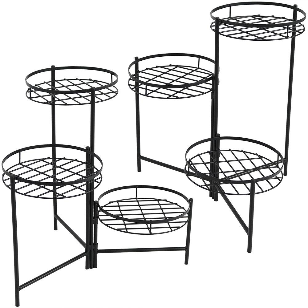 Black Iron 3 Tiered Plant Stand 2 Pack