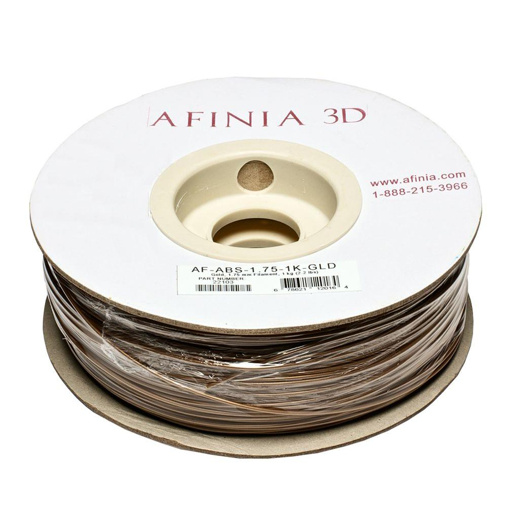 Value-Line 1.75 mm Gold ABS Plastic 3D Printer Filament (1kg)