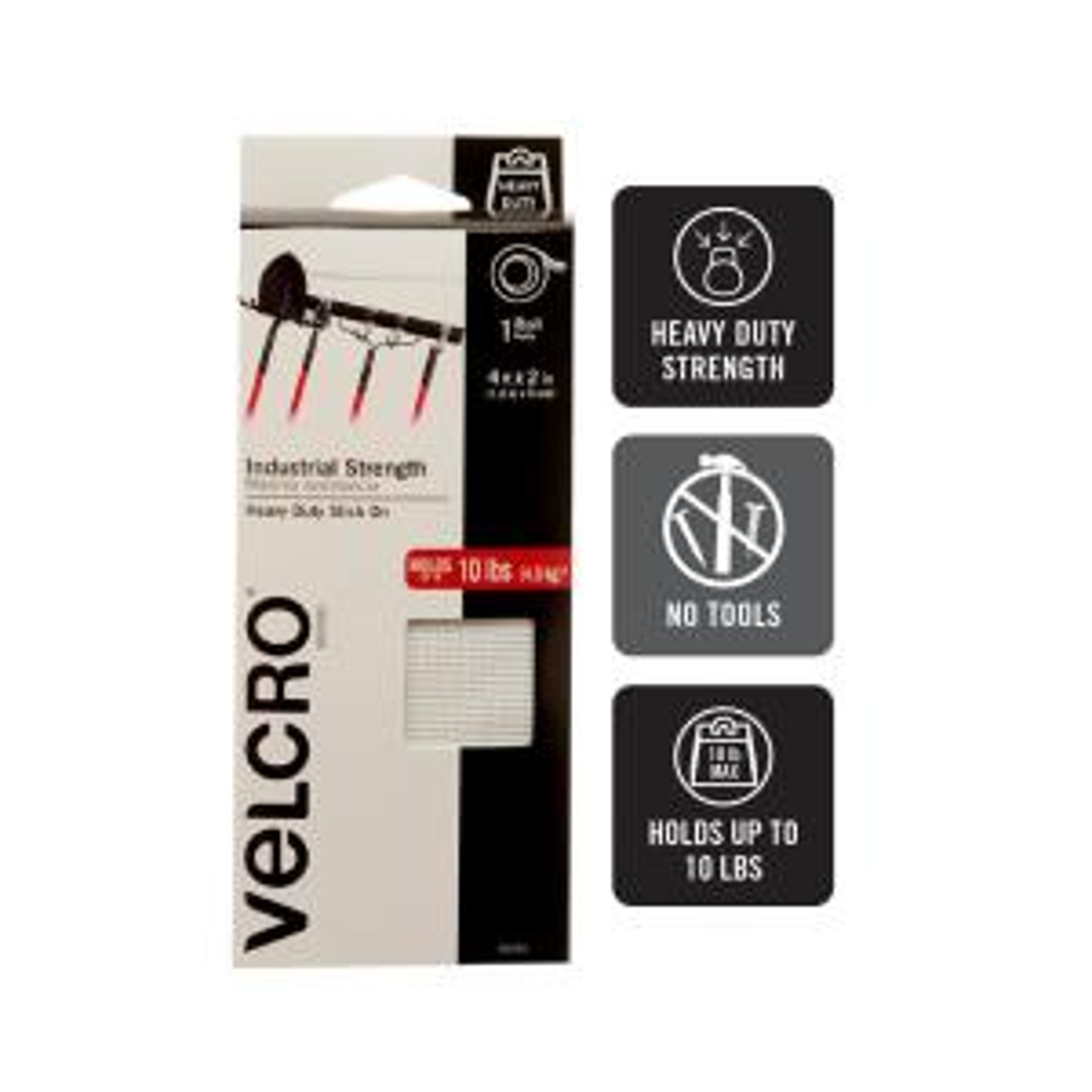 "91000 VELCRO Brand Industrial Strength Coins 1/""X.75/"" 10//Pkg-Black"