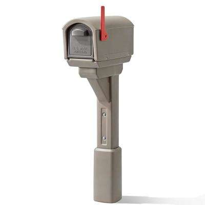 MailMaster Express Post Mount Mailbox - Mocha