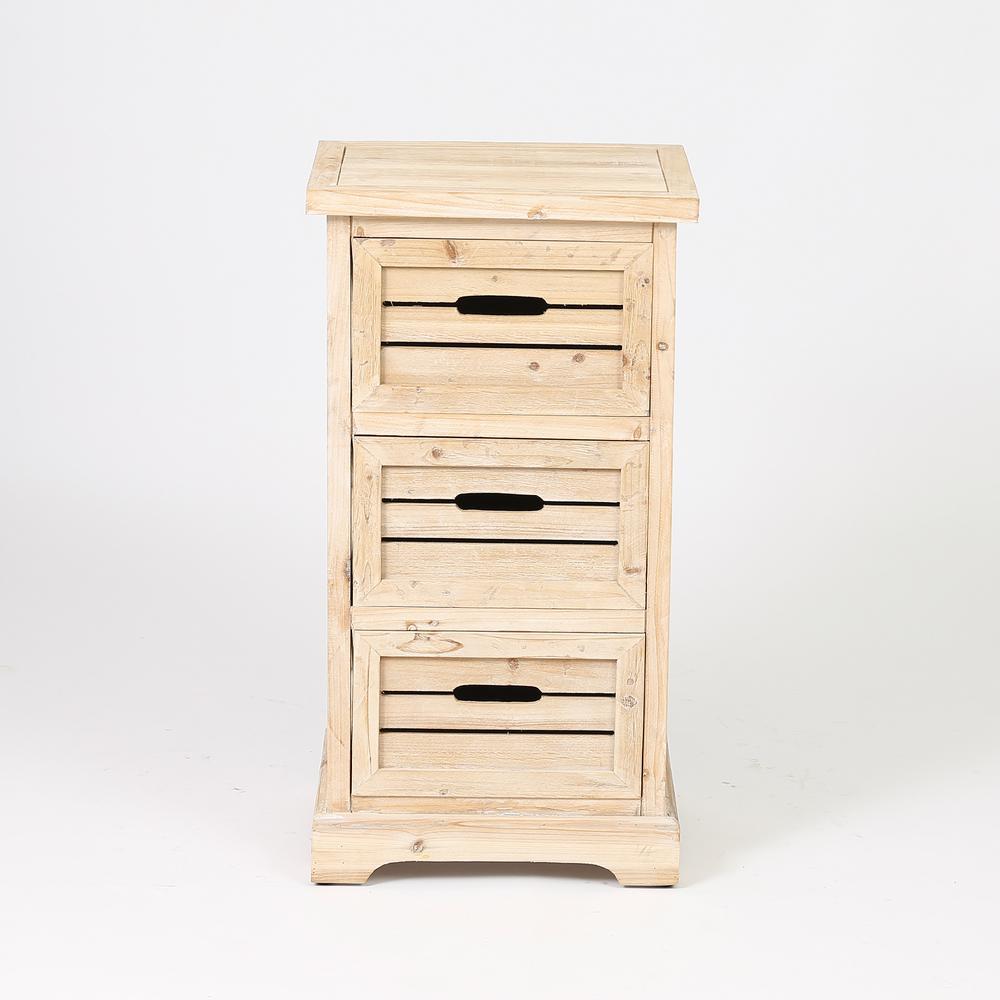 Natural 3-Drawer Cabinet