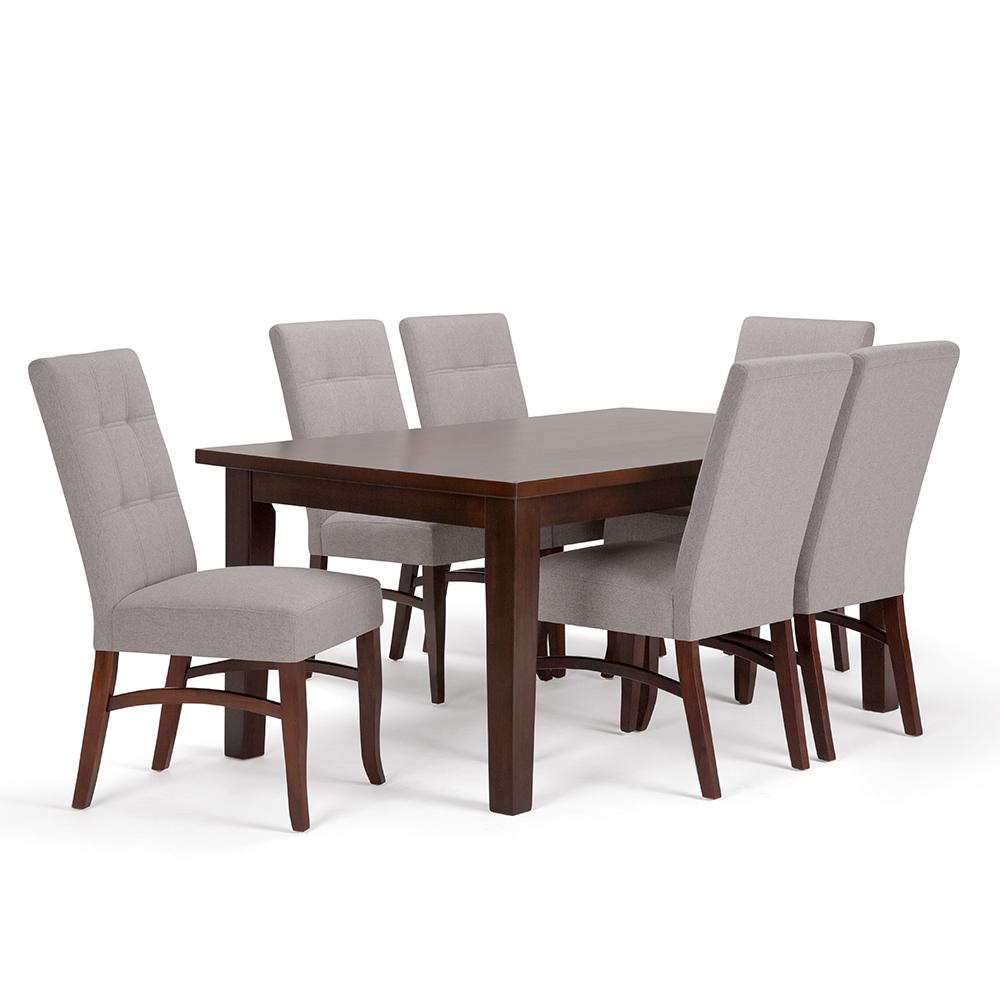 Ezra 7-Piece Cloud Grey Dining Set