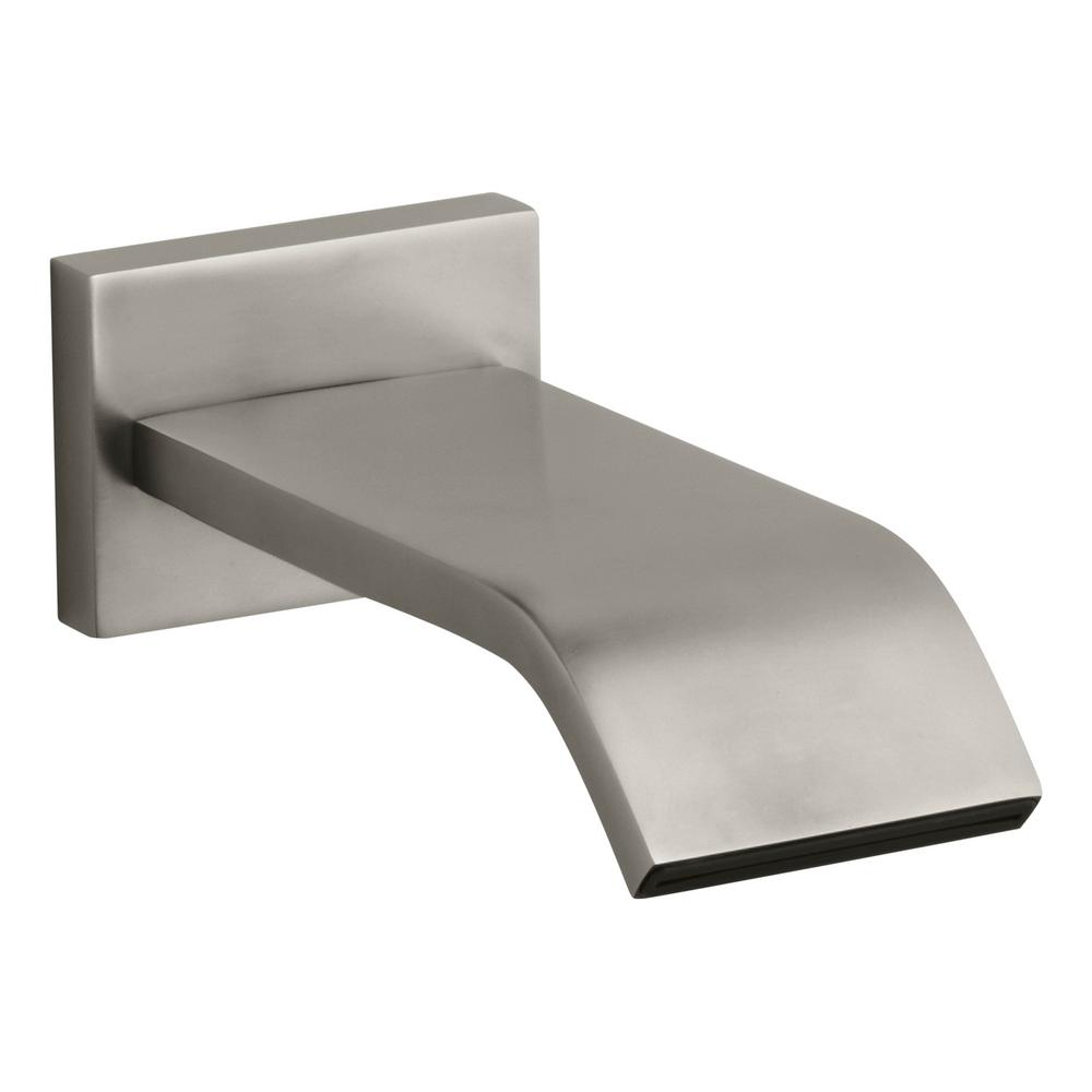Loure Wall-Mount Bath Spout in Vibrant Brushed Nickel