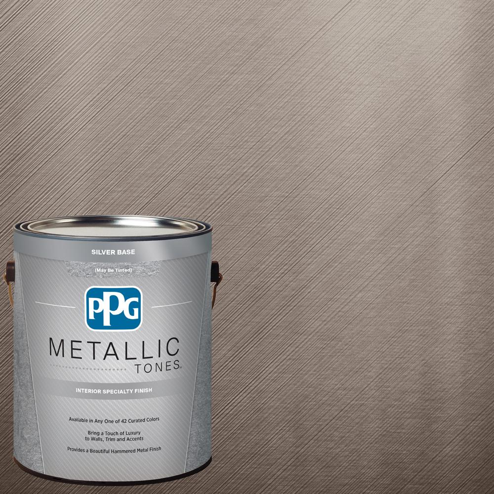 PPG METALLIC TONES 1 Gal. MTL129 Flintlock Metallic Interior Specialty  Finish Paint