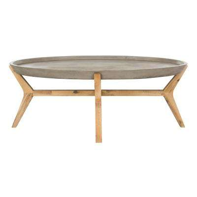 Hadwin Dark Gray Stone Indoor/Outdoor Coffee Table