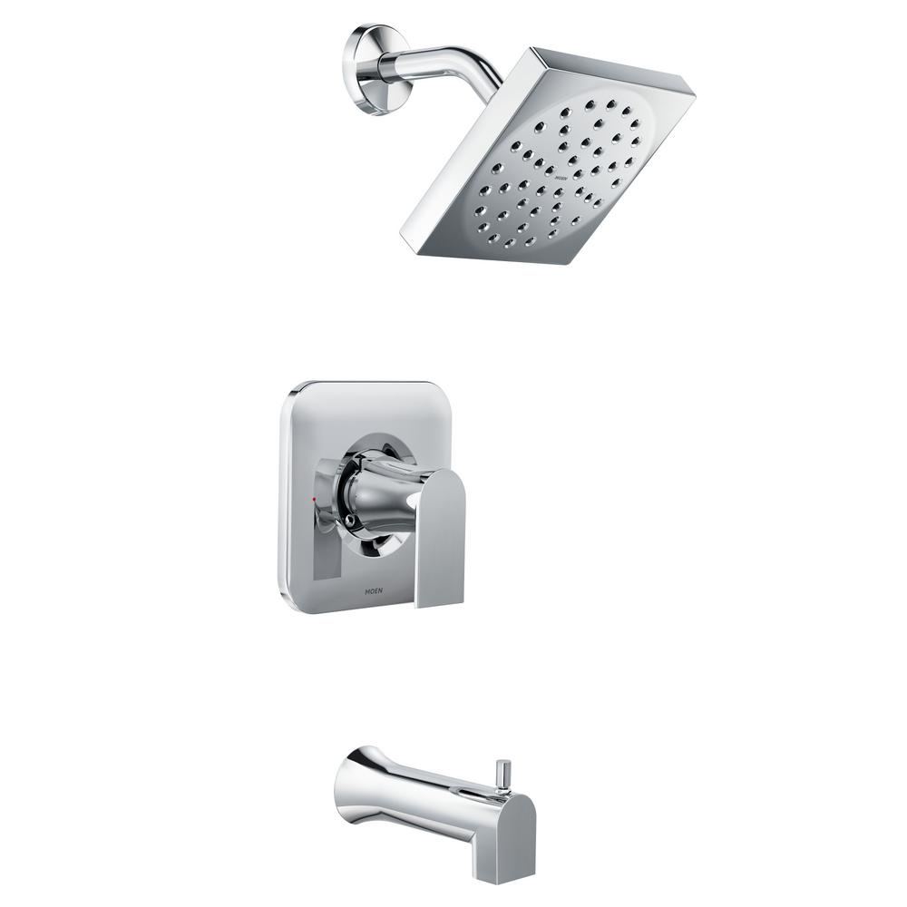 Genta Single Handle 1 Spray Tub And Shower Faucet