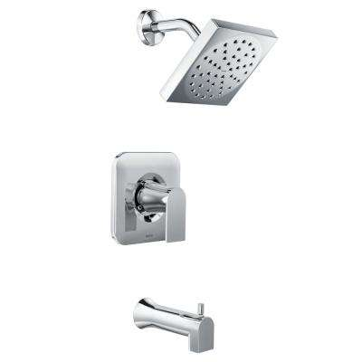 Genta Single-Handle 1-Spray Tub and Shower Faucet in Chrome (Valve Included)