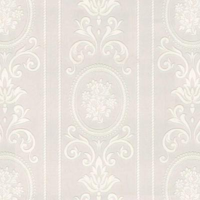 Cameo Stripe Paintable White Wallpaper