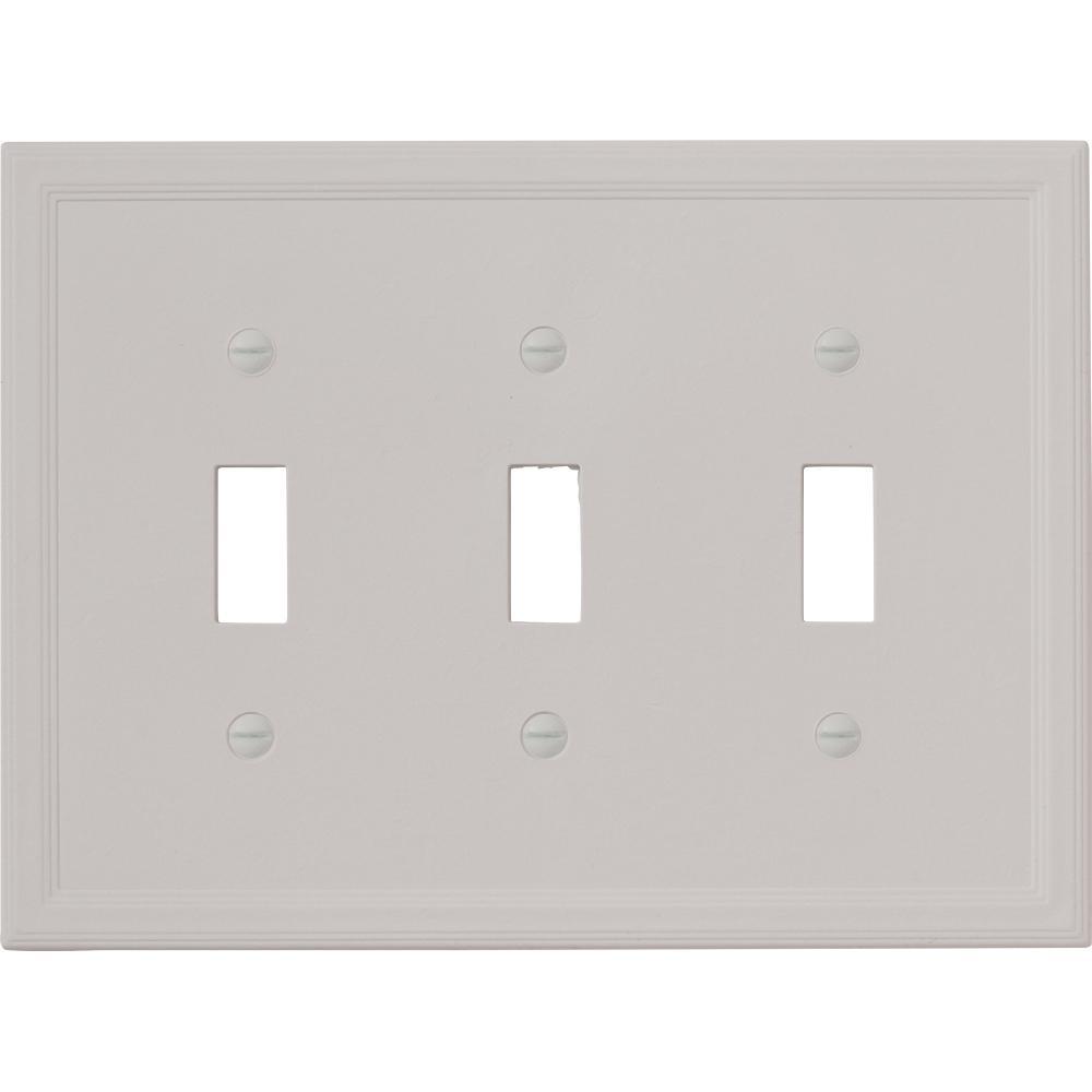 Reviews For Hampton Bay Gray 3 Gang Gfci Wall Plate 1 Pack Swp1106 32 The Home Depot