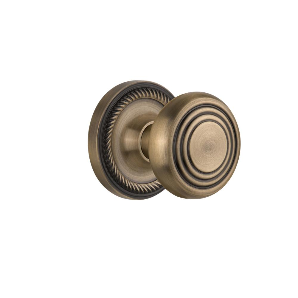Defiant Brand Wine Antique Brass Dummy Knob T8840 The