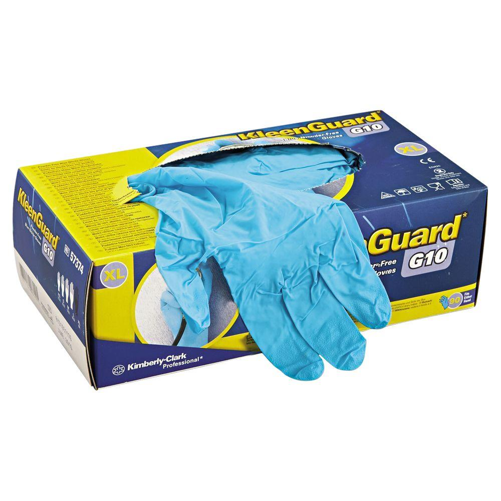 KLEENGUARD Disposable Blue Nitrile Gloves, Medium (100-Count)-KCC57372 -  The Home Depot