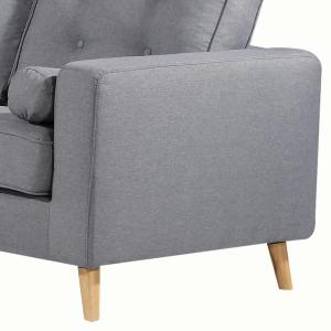 Ac Pacific Ethan Grey Upholstered Mid Century Tufted