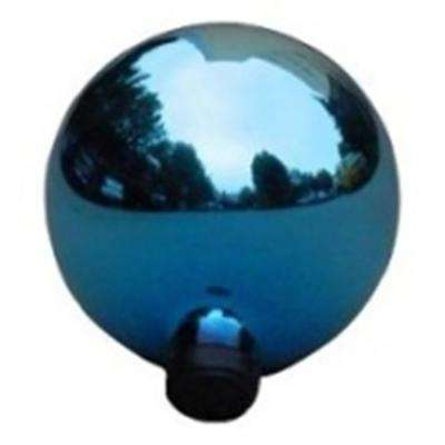 10 in. Turquoise Blue Glass Outdoor Patio Garden Gazing Ball