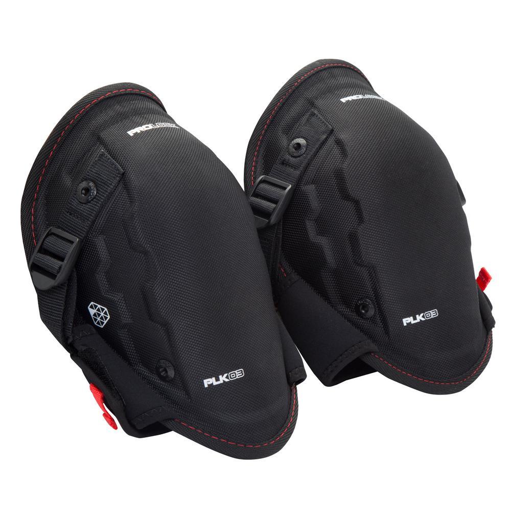 PROLOCK Professional Black Foam Abrasion Resistant Safety Knee Pads