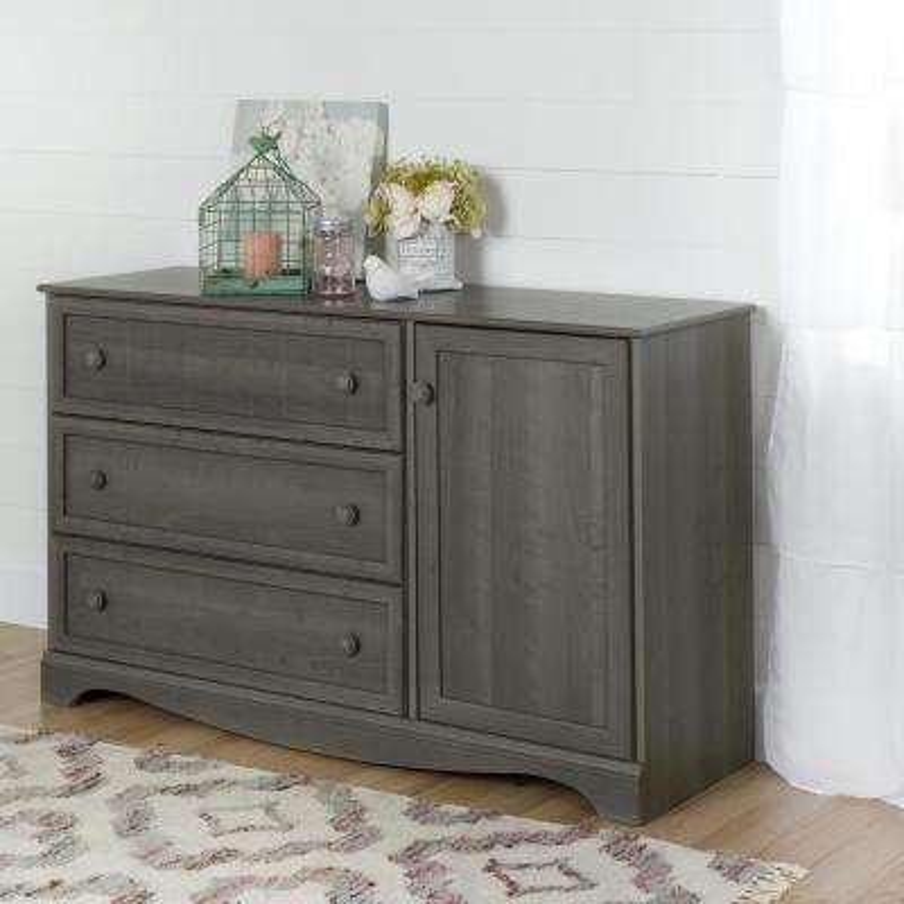 Savannah 3-Drawer Gray Maple Dresser