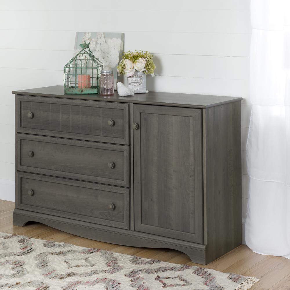 South Shore Savannah 3-Drawer Gray Maple Dresser 10423
