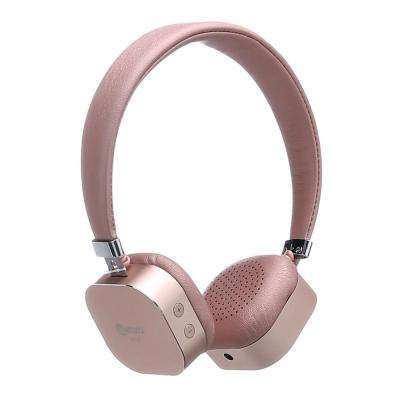 KB-100 Bluetooth Wireless Kids Over-The-Ear Headphones, Volume Safe Limiter (MAX 85db) Adjustable Headset in Pink