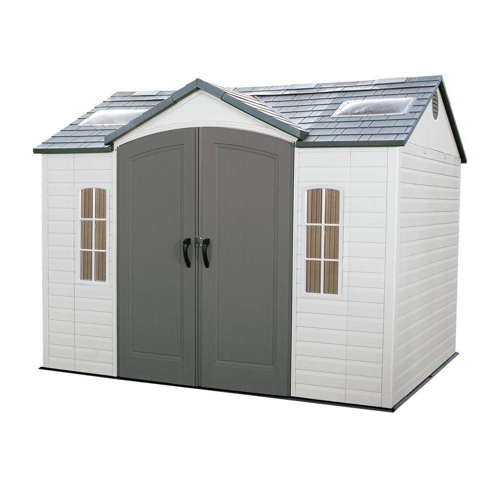 lifetime 10 ft x 8 ft outdoor garden shed 60005 the home depot