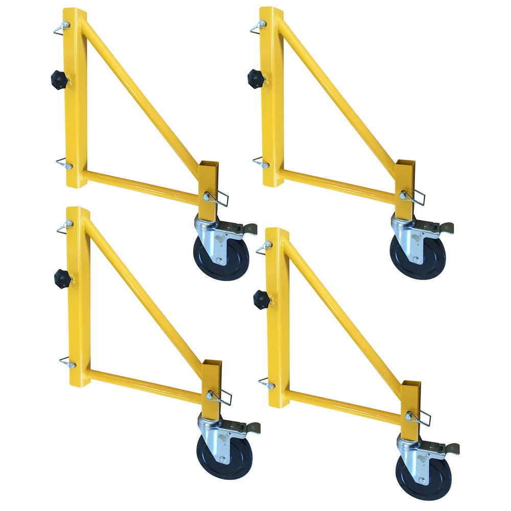 18 in. Outriggers for Scaffolding with Casters (4-Pack)