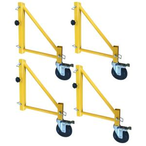 PRO-SERIES 18 inch Outriggers for Scaffolding with Casters (4-Pack) by PRO-SERIES