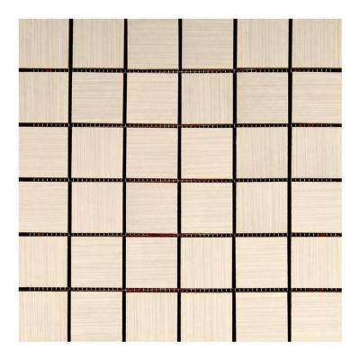 Italia Zen Bianco 12 in. x 12 in. x 8 mm Porcelain Mosaic Tile