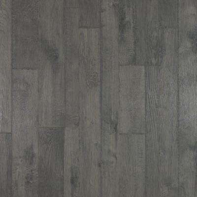 Outlast+ Ventura Pewter Hickory Laminate Flooring 5 in. x 7 in. Take Home Sample