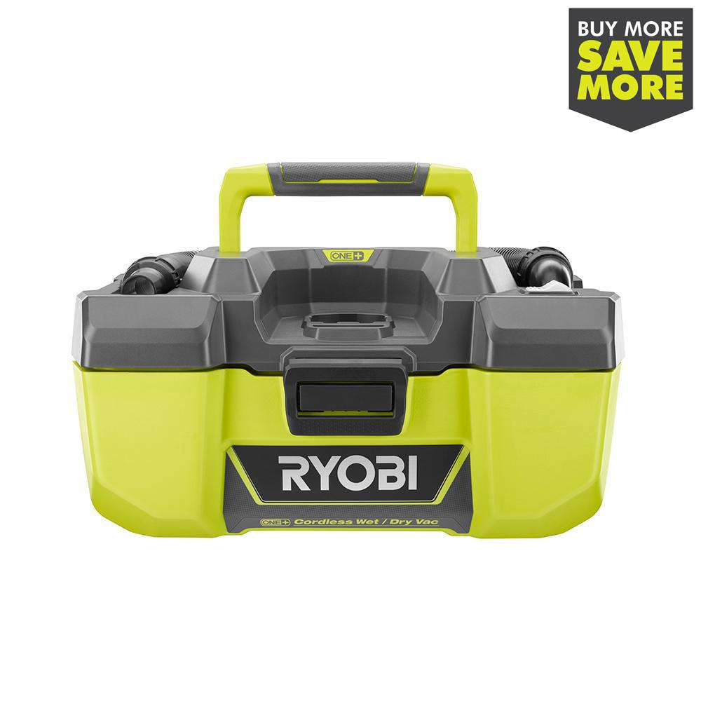 Ryobi 18 Volt One 3 Gal Project Wet Dry Vacuum With Accessory Storage Tool Only P3240 The Home Depot