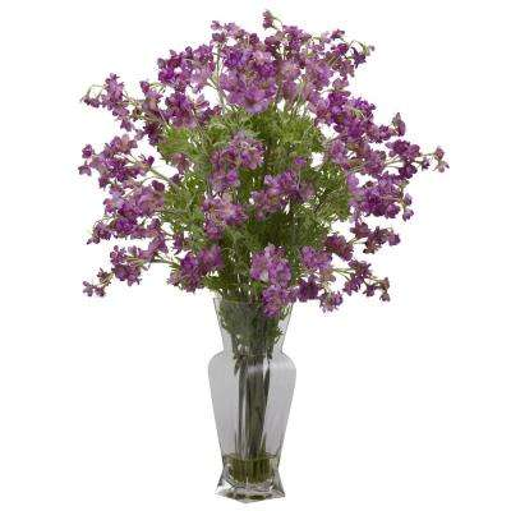 Dancing Purple Daisy Silk Flower Arrangement