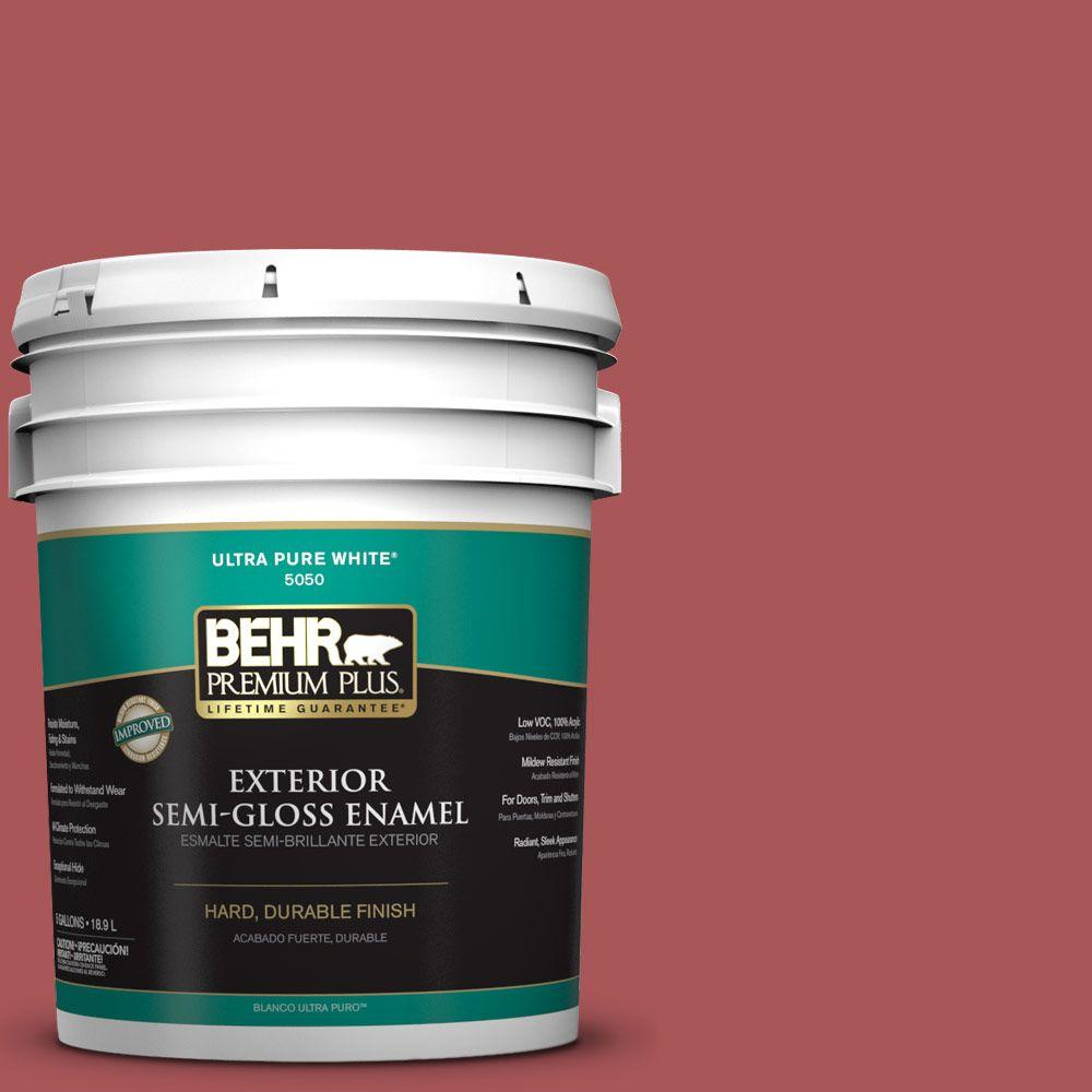 5-gal. #M150-6 Lingonberry Punch Semi-Gloss Enamel Exterior Paint