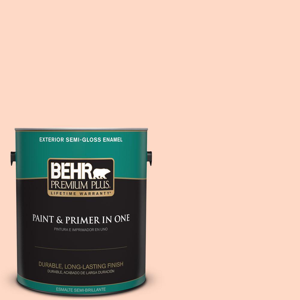 BEHR Premium Plus 1-gal. #220A-2 Friendship Semi-Gloss Enamel Exterior Paint