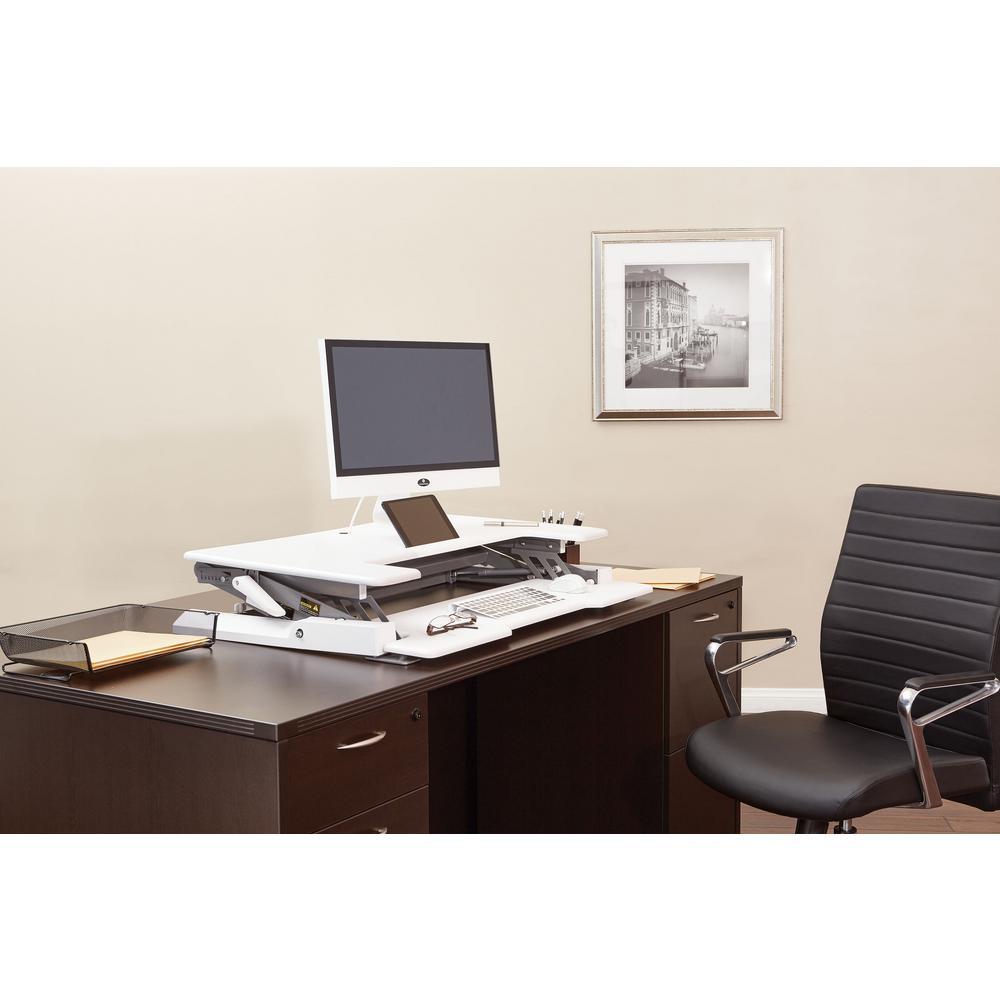 Position Desk Riser White Multi