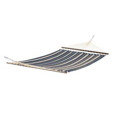 Montlake 11 ft. Quilted Hammock in Heather Indigo Stripe