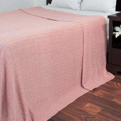 Chevron Brick 100% Egyptian Cotton Twin Blanket