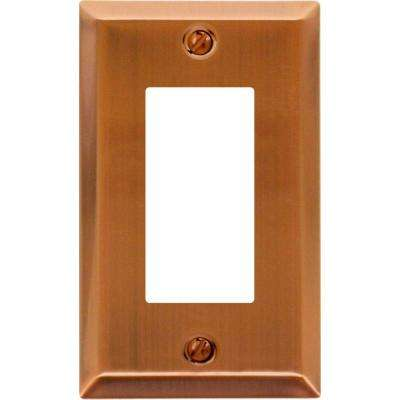 Century Steel 1 Decora Wall Plate Antique Copper