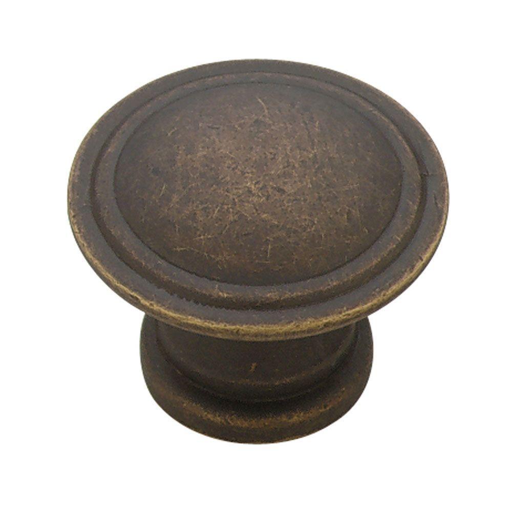 Liberty 1-1/8 in. Distressed Oil Rubbed Bronze Ridge Cabinet Knob ...