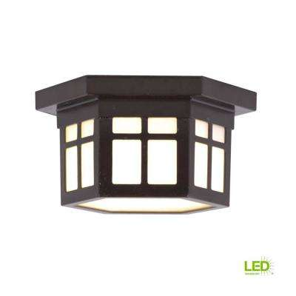 LED Outdoor Hanging Antique Bronze Flush Mount