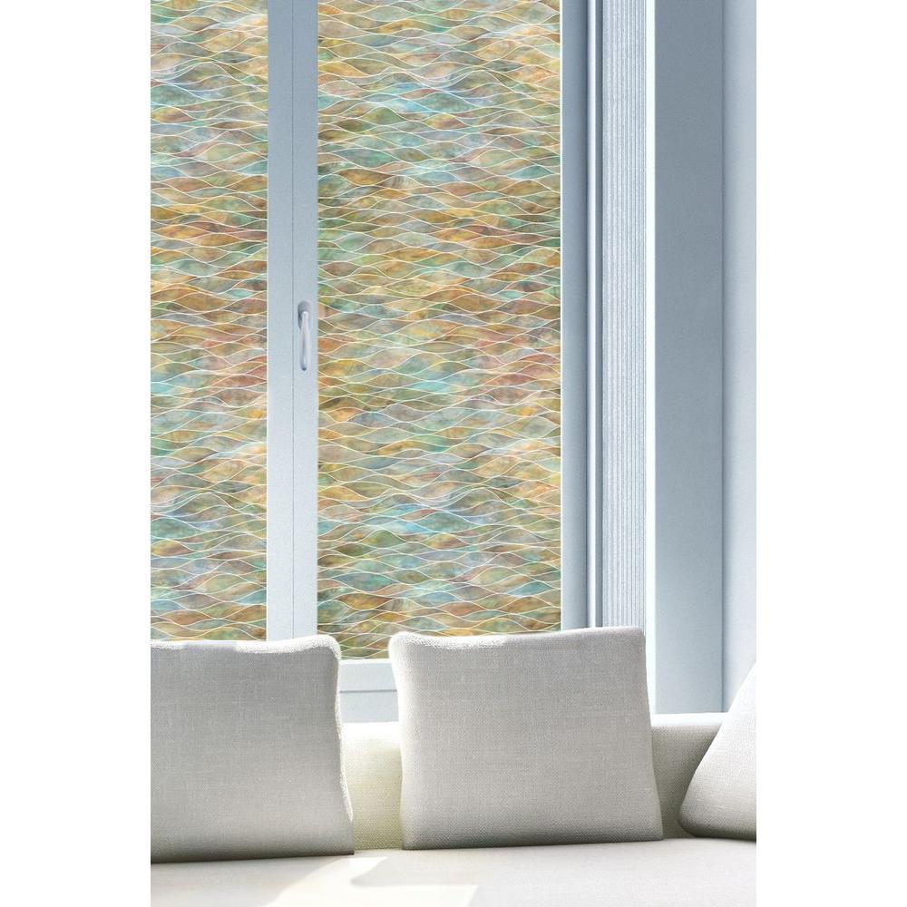 24 in. x 36 in. Water Colors Decorative Window Film