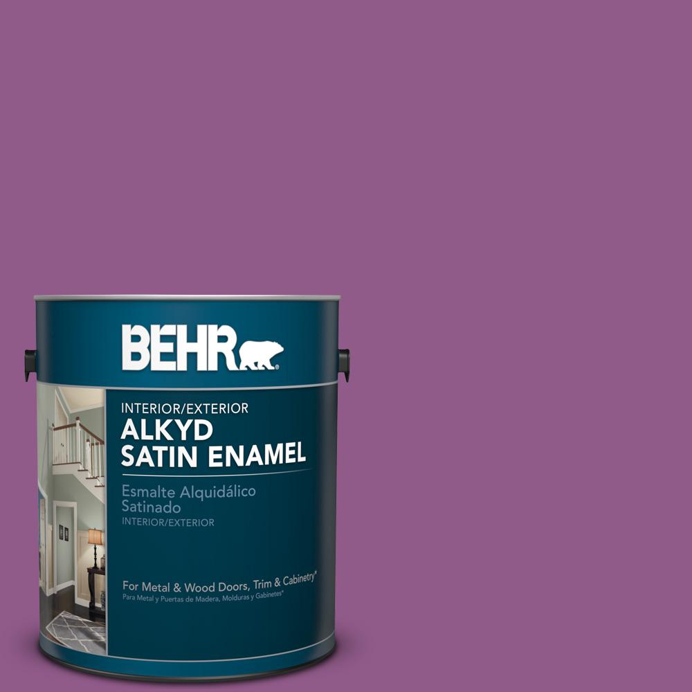 1 gal. #OSHA 4 Safety Purple Satin Enamel Alkyd Interior/Exterior Paint