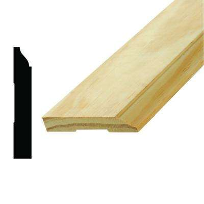 WM 622 9/16 in. x 3-1/2 in. x 96 in. Pine Base Moulding